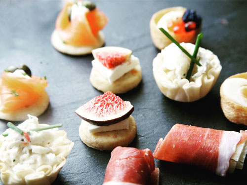 nibbled canapes