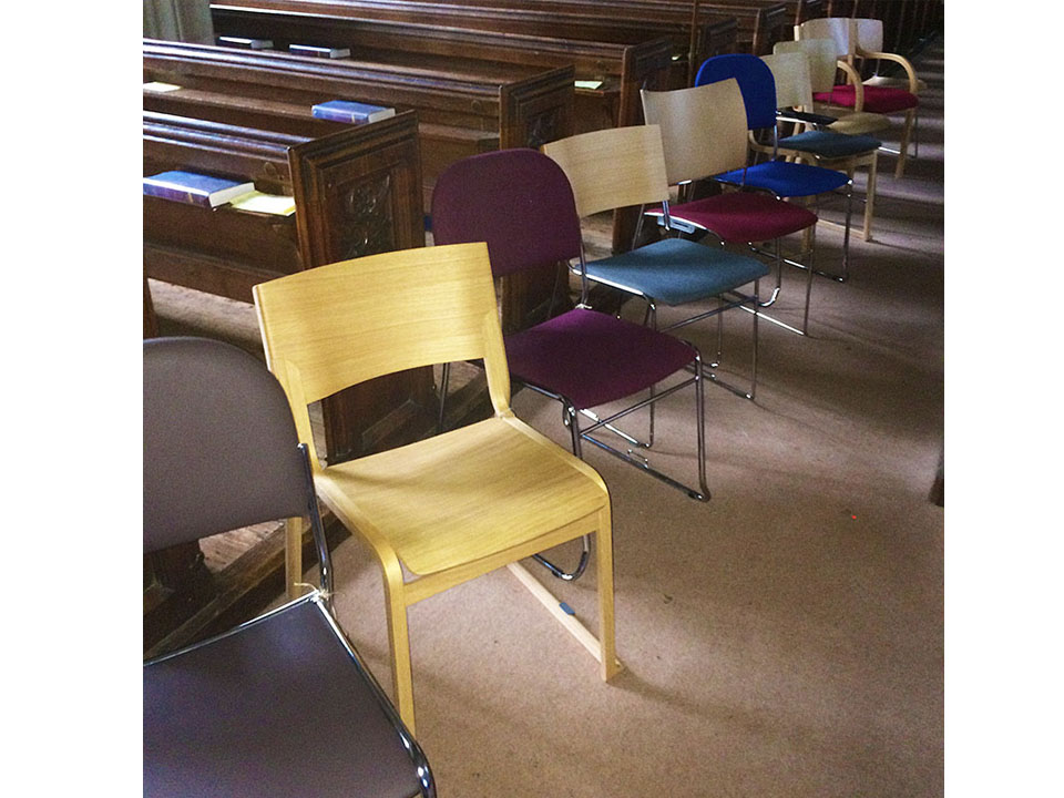 Chairs in church Small