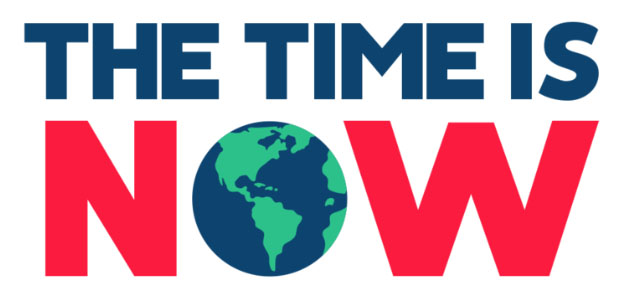 The time is now logo web
